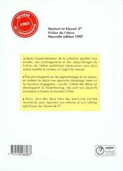 Deutsch Ist Klasse - 4ème de couverture - Format classique