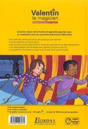 Valentin le magicien ; méthode de lecture ; CP ; manuel de l'élève - 4ème de couverture - Format classique
