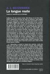 La longue route - 4ème de couverture - Format classique