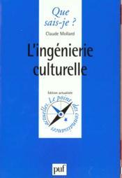 L'ingénierie culturelle - Couverture - Format classique