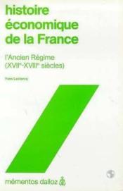Histoire Economique De La France - 1ere Ed. - Couverture - Format classique