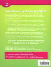 Saynètes pour apprentis comédiens ; 5/8 ans - 4ème de couverture - Format classique