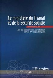 Ministère du travail et de la sécurité sociale ; de la libération au début de la ve république - Intérieur - Format classique