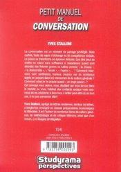 Petit Manuel De Conversation (2e Edition) - 4ème de couverture - Format classique