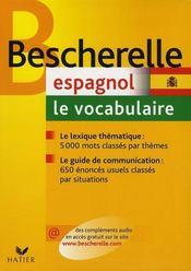 Bescherelle espagnol ; le vocabulaire - Intérieur - Format classique