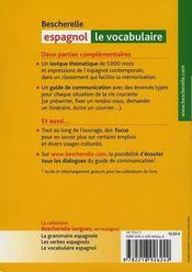 Bescherelle espagnol ; le vocabulaire - 4ème de couverture - Format classique