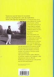 Golf, Mode D'Emploi - 4ème de couverture - Format classique