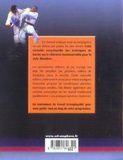 Karaté pratique ; du débutant à la ceinture noire - 4ème de couverture - Format classique