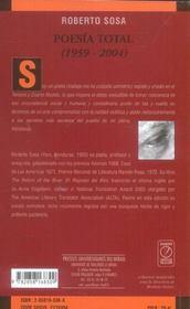Poesia Total - 4ème de couverture - Format classique