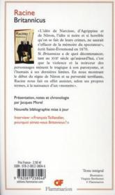 Britannicus - 4ème de couverture - Format classique