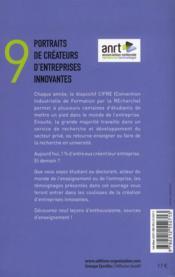 Ces créateurs d'entreprises innovantes ; quand doctorat se conjugue avec entrepreneuriat - 4ème de couverture - Format classique