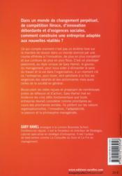 Ce qui compte vraiment ; les 5 défis pour l'entreprise ; valeurs, innovation, adaptabilité, passion, philosophie - 4ème de couverture - Format classique