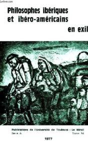 Philosophes Iberiques Et Ibero-Americains En Exil - Couverture - Format classique