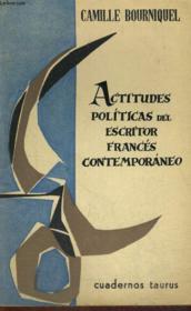 Actitudes Politicas Del Escritor Frances Contemporaneo - Couverture - Format classique