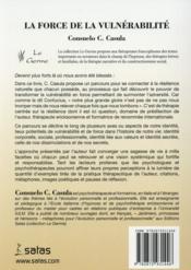 La Force De La Vulnerabilite - 4ème de couverture - Format classique