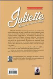 Les lumières de Paris t.2 ; Juliette, la mode au bout des doigts - 4ème de couverture - Format classique