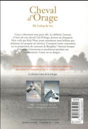 Cheval d'orage - vol03 - galop de feu - 4ème de couverture - Format classique