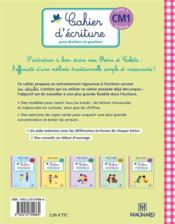 Rémi et Colette, méthode traditionnelle ; cahier d'écriture ; pour droitiers et gauchers ; cycle 3 ; CM1 (9-10 ans) - 4ème de couverture - Format classique