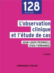 L'observation clinique et l'étude de cas (4e édition) - Couverture - Format classique