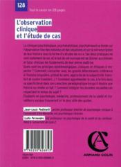 L'observation clinique et l'étude de cas (4e édition) - 4ème de couverture - Format classique