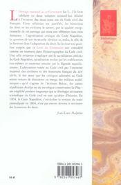 Livre du centenaire, le code civil 1804-1904 (1re édition) - 4ème de couverture - Format classique