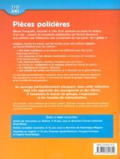 Pièces policieres t.1 ; 7/11 ans (édition 2002) - 4ème de couverture - Format classique