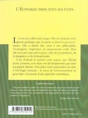 L'Ecologie Dans Tous Ses Etats No18 - 4ème de couverture - Format classique