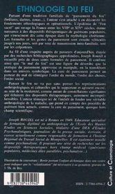 Ethnologie du feu ; guérisons populaires et mythologie chrétienne - 4ème de couverture - Format classique
