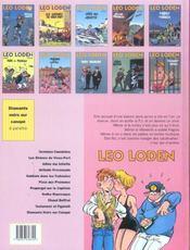 Léo Loden t.6 ; pizza aux pruneaux - 4ème de couverture - Format classique
