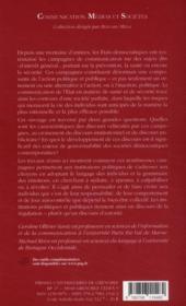 Communication de l'état et gouvernement du social ; pour une société parfaite ? - 4ème de couverture - Format classique