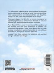 2012 ; livre blanc du cjd ; objectif oikos ; 12 propositions pour nous, nos enfants et la biosphère - 4ème de couverture - Format classique