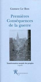 Premieres consequences de la guerre (1916) - Couverture - Format classique