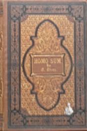 Homo Sum, roman - Couverture - Format classique