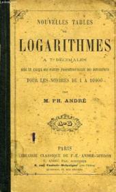 Nouvelles Tables De Logarithmes A 7 Decimales - Couverture - Format classique