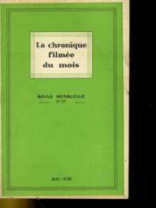 La Chronique Filmee Du Mois N°27 - Couverture - Format classique