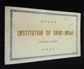 Institution de Saint-Malo - Couverture - Format classique