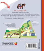 Le poney-club - 4ème de couverture - Format classique