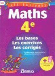LES BASIQUES BORDAS ; mathematiques ; 4eme - Intérieur - Format classique