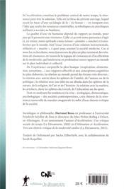 Résonance ; une sociologie de la relation au monde - 4ème de couverture - Format classique