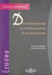 Droit international et communautaire de la biodiversité - Intérieur - Format classique