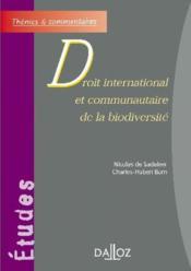 Droit international et communautaire de la biodiversité - Couverture - Format classique