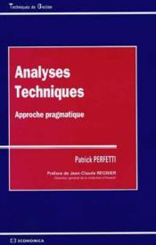 Analyses Techniques, Approche Pragmatique - Couverture - Format classique