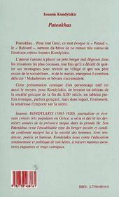 Patoukhas - 4ème de couverture - Format classique