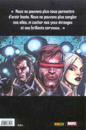 X-men t.1 ; E comme extinction - 4ème de couverture - Format classique