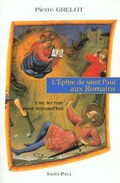 L'epitre de saint paul aux romains - Intérieur - Format classique