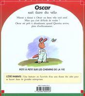 Oscar sait faire du velo - 4ème de couverture - Format classique
