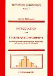 Techniques statistiques vol 1 - Couverture - Format classique