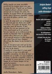 Spécial Joëlle Wintrebert - 4ème de couverture - Format classique