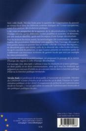 Les collectivités territoriales dans l'Union européenne ; vers une Europe décentralisée ? - 4ème de couverture - Format classique