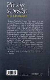 Histoires de proches face à la maladie ; 35 récits - 4ème de couverture - Format classique